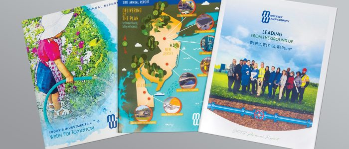 Design Services for Middlesex Water Company Annual Reports